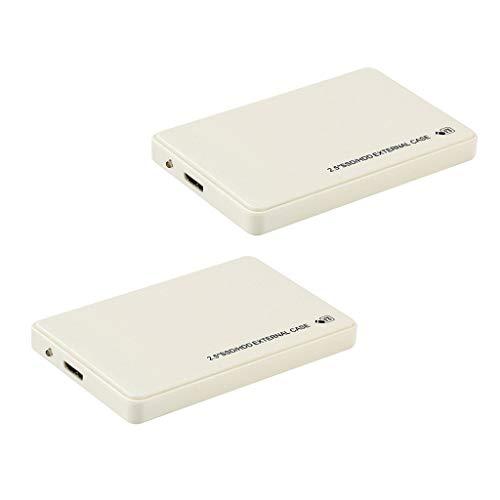 H HILABEE 2X Disco Duro Externo USB3.0 SATA para PC De Escritorio Xbox 360 1T + 2T Blanco