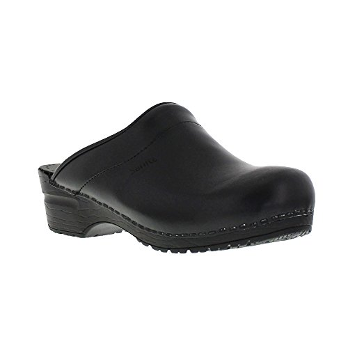 Sanita Damen Sonja PU Open Clogs, Schwarz (Black 2), 35 EU