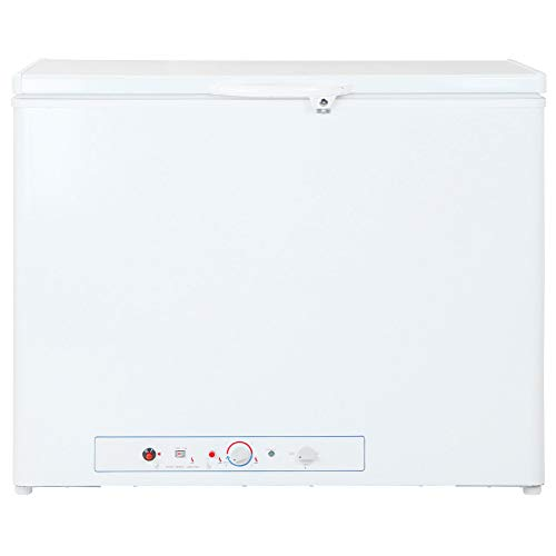 SMETA Gas/Electric Chest Freezer Lockable Absorption Propane Deep Freezer,7.1 cu ft,White