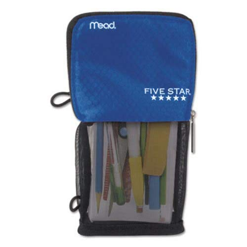 Mead Stand N Store Pencil Pouch, New Honey Comb Design (Cobalt Blue) by Mead Cambridge
