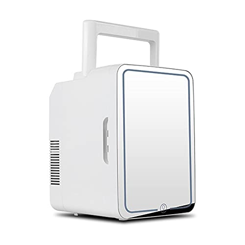 CHUANGRUN Mini Fridge, 10 Liter Compact Refrigerator, Small Refrigerator for Office AC/DC Portable Fridge, Makeup Storage Portable Cooler and Warmer For Car,Bedroom,Office,Dorm,Travel