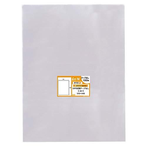 アートエム 1up商品【国産】テープなし【100枚】 A3【ポスター用】透明OPP袋 310x440mm