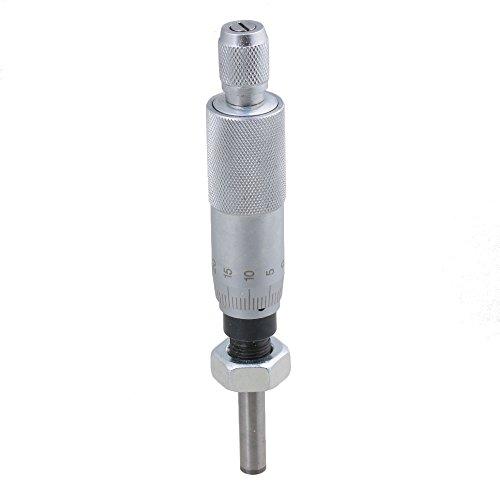Micrometro CNBTR de precisión de 0 a 25 mm, con soporte para aguja plana con tuerca