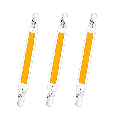 COMY R7S Bombilla LED de 20W, Blanco Frío 6000K, 118mm, Doble Extremo, 120V/230V, Ángulo De Haz De 360° Equivalente a Lámpara Halógena De 200W,3pcs,110V~120V