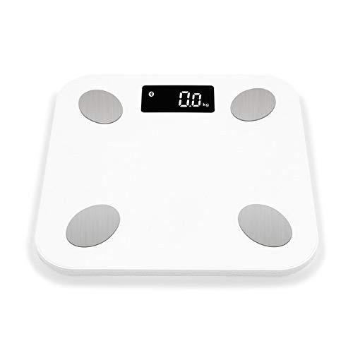 Mdsfe Bluetooth-Waage Bodengewicht Waage Smart Backlight Display Waage Gewicht Gewicht Fett Wasser Muskelmasse - a5, Weiß