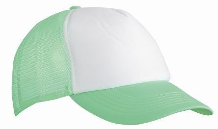 Trucker Mesh Baseball Cap in Polyester- oder Baumwolle in 35 Farben, einfarbig und zweifarbig PF Neon Grün