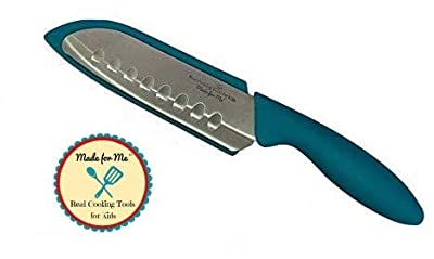 First Chef's Knife for Children - NEW!! - TEAL/Parents #1 choice for safety and design! Beginner's Chef Knife for Kids