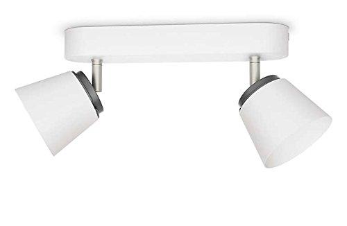 Philips 533423116 Dender Luminaire d'Intérieur Spot LED Métal Blanc 4 W