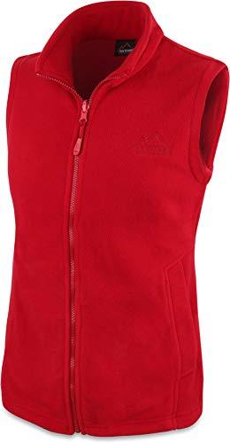 normani 280g Fleeceweste für Damen - Winddicht, leicht, warm, elegant Farbe Rot Größe XL