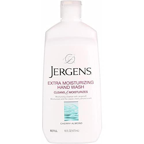 Jergens xtra Moisturizing Hand Wash Refill, Classic Cherry Almond 16 oz (Pack of 4)