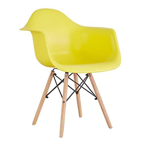 TXXM, sedia da pranzo semplice, schienale creativo, sedia per il tempo libero, sedia da pranzo per adulti (colore: giallo)