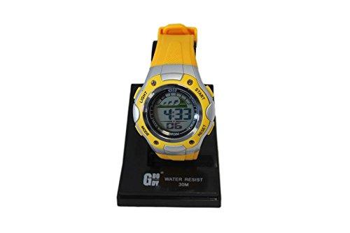 Acan Reloj Digital de Color Amarillo y Gris con señal horaria