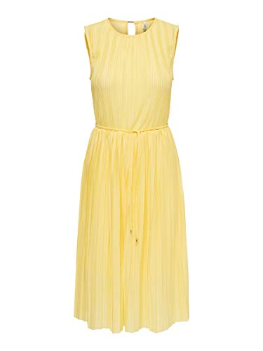 ONLY Female Kleid Plissee MDusky Citron