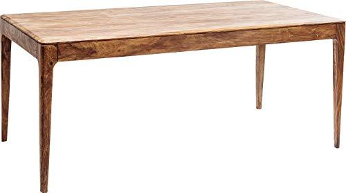 Kare Design Tisch Brooklyn Nature, Esszimmertisch aus Massivem Sheesham-Holz, Hellbraun gebeizter Esstisch, Holztisch, Küchentisch, Schreibtisch, (H/B/T) 76x175x90 cm