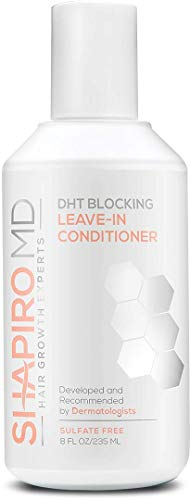 Hair Loss Leave-in Conditioner   DHT Fighting Vegan Formula for Thinning Hair Developed by Dermatologists   Experience Healthier, Fuller and Thicker Looking Hair - Shapiro MD   1-Month Supply