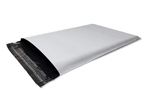Lot de 50 Enveloppes plastique blanches opaques A4 250 x 350 mm,pochettes d'expédition 25x35 cm 60 microns. Enveloppe fine 13g, légère, solide, inviolable et imperméable.