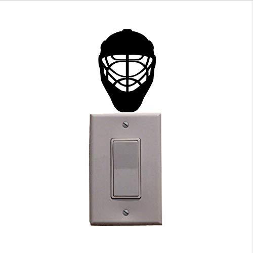 ZHOUHAOJIE Tier Schalter Aufkleber Sport Eishockey Helm Vinyl Schalter Aufkleber Wandtattoo