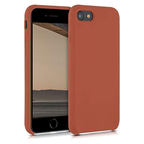 kwmobile Cover Compatibile con Apple iPhone 7/8 / SE (2020) - Cover Custodia in Silicone TPU - Back Case Protezione Cellulare Marrone Cannella