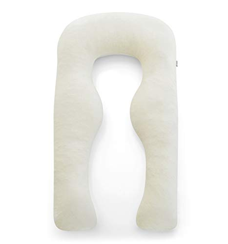 Yana Sleep Pillow | Luxury Body Pillow - Organic Bamboo Cotton - All Natural Fill - Ergonomic Design - Double Sided - Washable