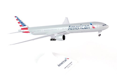 Daron Skymarks SKR715 American 777-300 New Livery Airplane Model Building Kit with Gear, 1/200-Scale