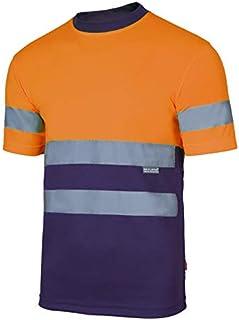 Velilla Camiseta Manga Corta Bicolor de Alta Visibilidad y Cintas Reflectantes. EN ISO 13688:2013 / EN ISO 20471:2013 + A...