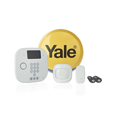 Yale IA-210 intruder alarm starter set, partial alarm function, call notifications, contactless control, white