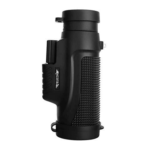 Auoeer Negro Impermeable monocular, 10x32 Telescopio, 10x10-1000 Metros eficaces, BAK4 Prism, for al Aire Libre de Aterrizaje o Visual de Contacto de Accesorios Telescopio