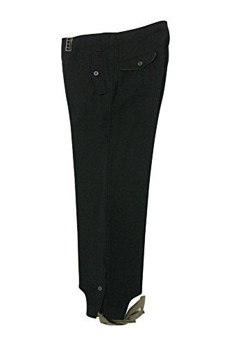 militaryharbor WW2 WWII - Pantalones de Lana Alemana Heer Panzer, Color Negro...