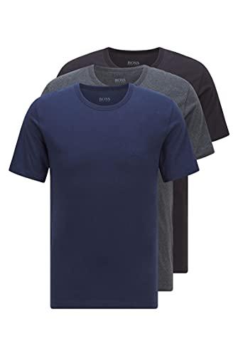 BOSS T-Shirt RN 3p Co Camiseta para Hombre, Azul (Open Blue 497), Medium, pack de 3