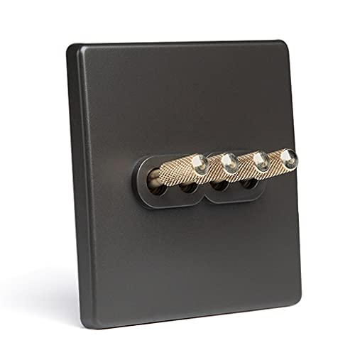 TYLZDZ Interruptores de botón Interruptor De Enchufe Estilo Industrial Retro Panel De Interruptor Gris Inicio Estilo Nórdico Interruptor Creativo 86 Enchufe Oculto (Color : 4, Size : 86mm)