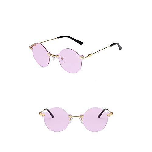 SXRAI Gafas de Sol para Mujer Gafas para Hombre Gafas de Sol para Mujer Gafas Redondas Gafas de Sol,C8