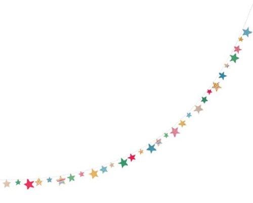 パーティーシーンに飾って活躍 丸和貿易 メリーパーティー ガーランド スター (L) 400627101