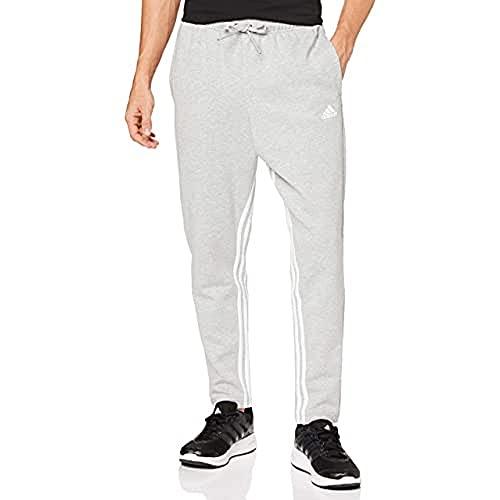 adidas męskie spodnie dresowe M Mh 3s T P szary szary/biały (Medium Grey Heather/White) X-S
