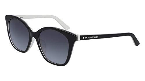 Calvin Klein CK19505S Occhiali da Sole, Black, 5418 Donna