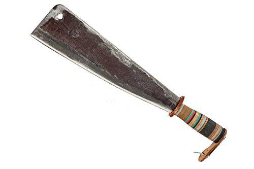 Manaresso in acciaio Lunghezza lama 33 cm Manico in cuoio per un impugnatura agevole e facilitata Made in Italy