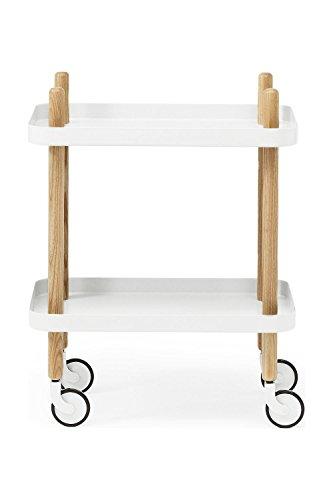Normann Copenhagen Block Serviertisch, Stahl, Weiß, 64x50x35cm