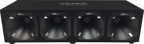 Menace Audio (MA-HB444BK-BK-02) - 4 Horn Enclosure - VOICEBOX