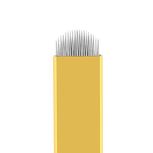 Tiikii Hart Tattoo Microblading Nadeln 19 U Form Augenbrauen Einweg Permanent Makeup Supplies Klingen Packung mit 50 Stück