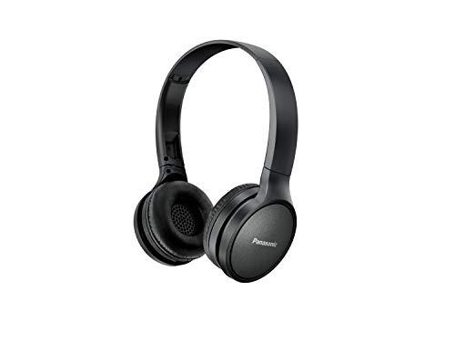 Panasonic RP-HF410BE-K Bluetooth koptelefoon (24 uur batterijduur, Quick-Charge, stembediening, on-ear, lichte koptelefoon opvouwbaar) zwart