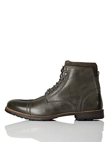 find. Max Herren Zip Worker Biker Boots, Grau (Charcoal), 39 EU