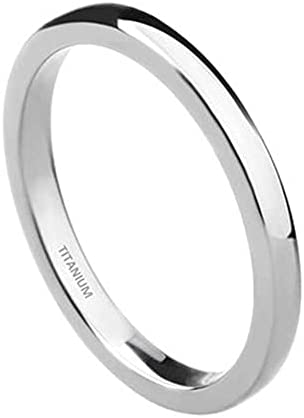 2mm Titanium Ring Plain Dome Max 80% OFF Polished Band Comfort High New sales Wedding