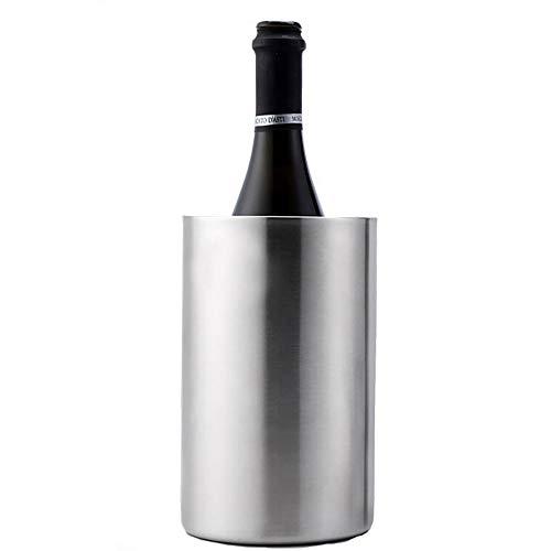 Ice Buckets Enfriador de Vino Cubo-Enfriador de Botellas de Vino, Aislante de Vino con Acero Inoxidable, Cubo Enfriador de Vino de Doble Pared de Acero Inoxidable