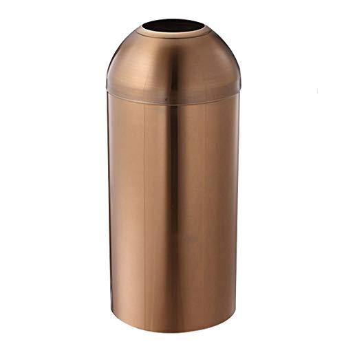 Poubelle- La poubelle découverte inventée de poubelles extérieures d'acier inoxydable peut dans/extérieur (Color : C)