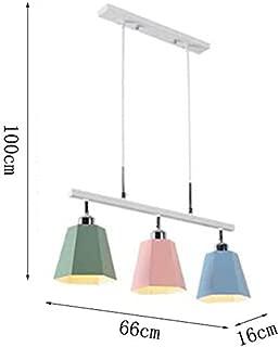 Iron Color 3 4 Lights Chandelier, simple Luz de techo moderna y creativa de la personalidad, Macaron Restaurant Living Room Lamp Nursery Study Lamps (Tamaño: 66 * 16 cm)