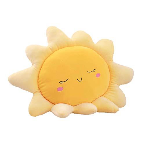 Aodafei Kuschelkissen Dekoration Kissen Für Schlaf Zimmer Sofa, 35-45 cm, Gelb Sonnen Kissen