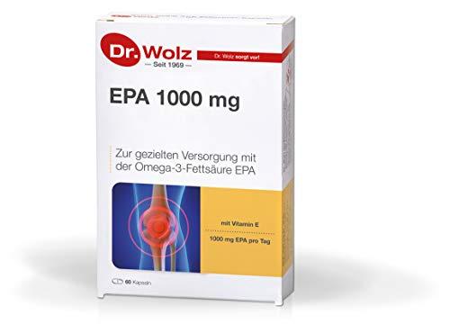 EPA 1000 mg von Dr. Wolz, zur gezielten Versorgung mit der Omega-3-Fettsäure EPA, 60 Stück