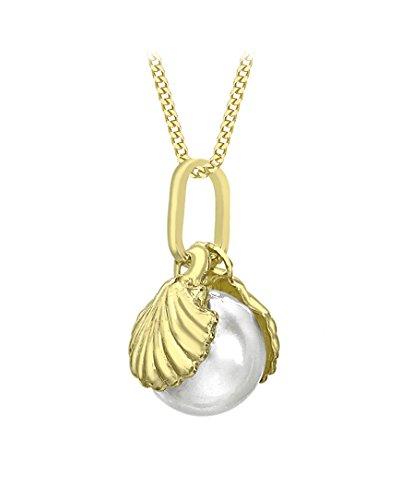 Carissima Gold Collar de mujer con oro de 9K con colgante de perla de agua dulce en concha, 46 cm