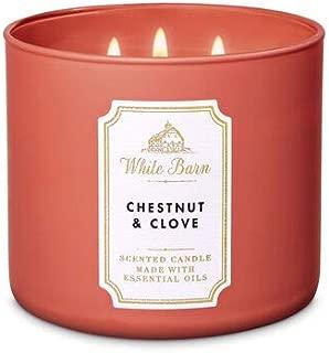 White Barn Bath & Body Works 3 Wick Candle Chestnut & Clove