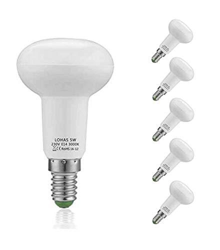 (5er Pack Warmweiß)LOHAS 5Watt R50 E14 Edison Schraubreflektor LED Lampe, Ersatzfür40WattHalogenlampen, 400LM, 3000K, 120°Strahlwinkel, LEDLampe, LED Birnen, LED Leuchtmittel