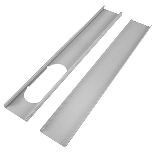 KKmoon Piastra del kit di Cetrini per Finestre 2Pz per Piastra di Tenuta Aria per Finestre Regolabile per Condizionatore D'aria Portatile